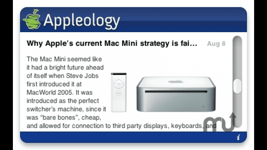 Appleology Widget for Mac - review, screenshots