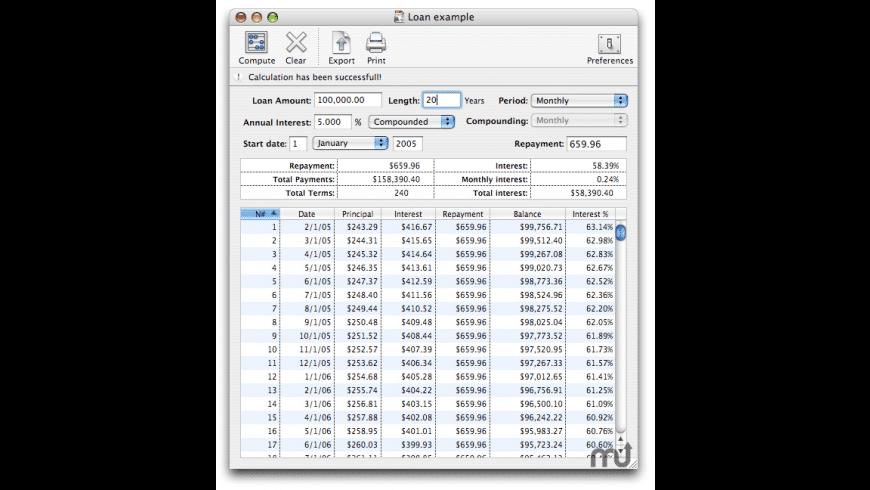 Loan Calc for Mac - review, screenshots