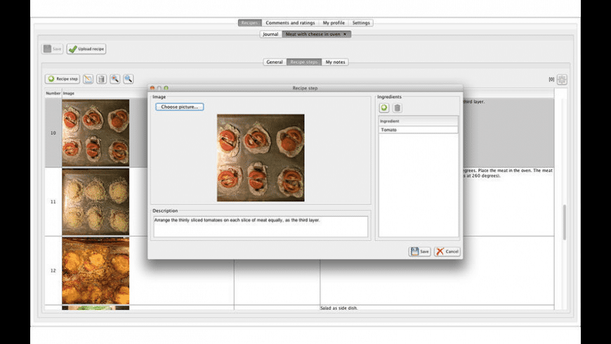 Recipes Temia for Mac - review, screenshots