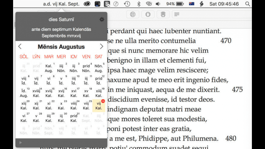 LatinCalendar for Mac - review, screenshots
