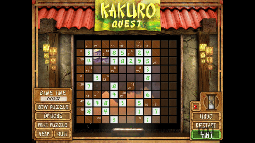 Kakuro Quest for Mac - review, screenshots