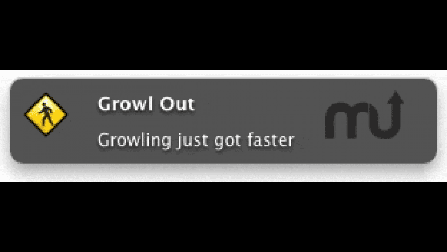Growl Out for Mac - review, screenshots