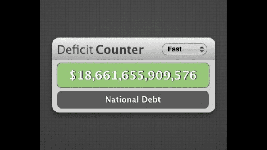 Deficit Counter for Mac - review, screenshots