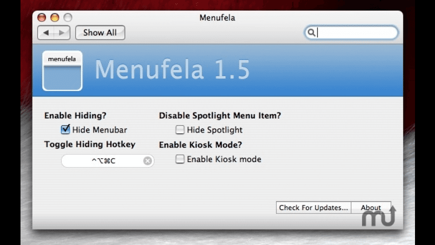 Menufela for Mac - review, screenshots