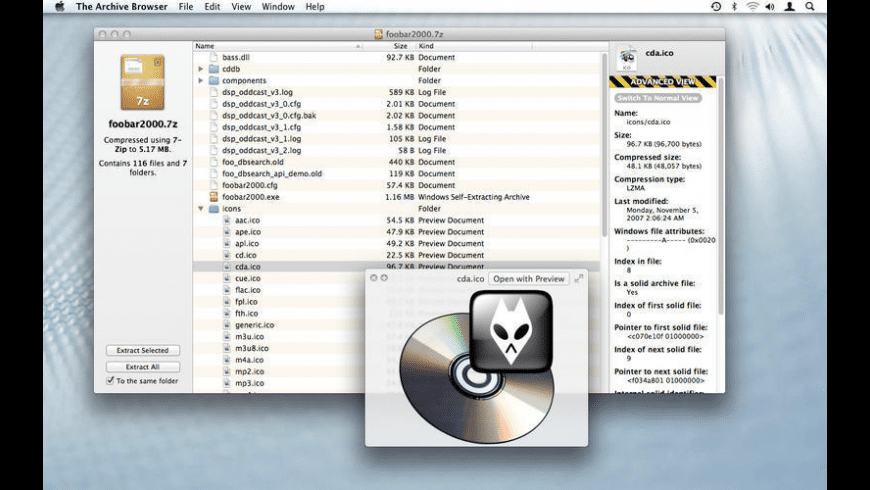 The Archive Browser for Mac - review, screenshots