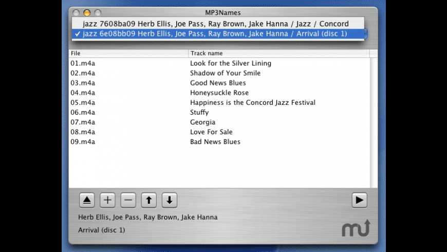 MP3Names for Mac - review, screenshots