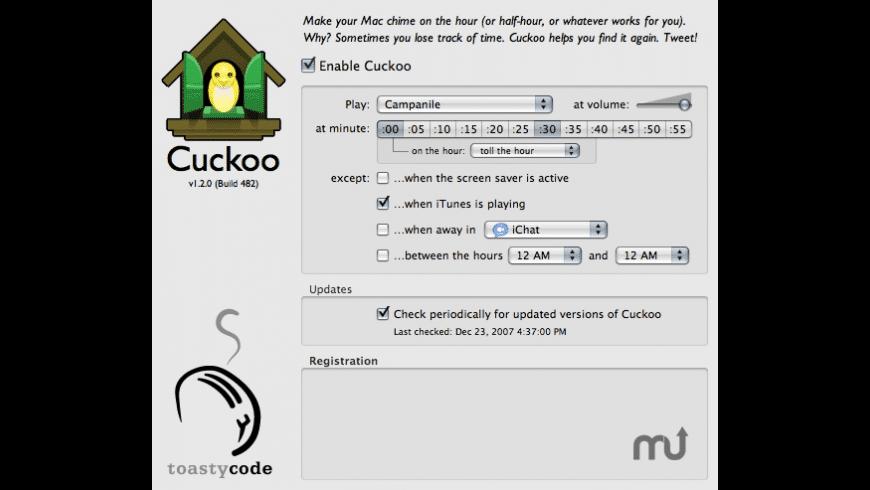Cuckoo for Mac - review, screenshots