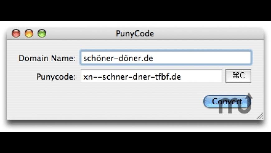 PunyCode for Mac - review, screenshots