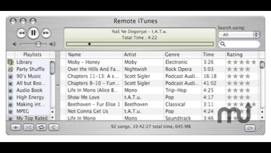 iTunes Remote for Mac - review, screenshots