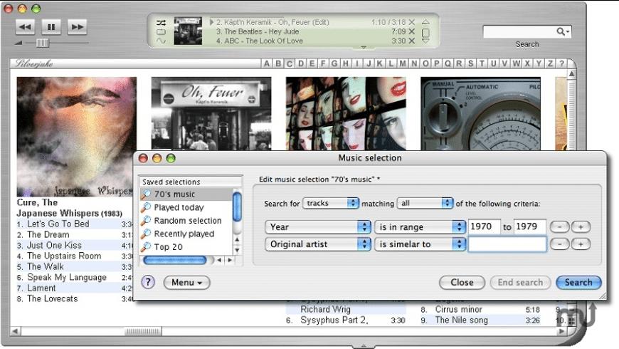 Silverjuke for Mac - review, screenshots
