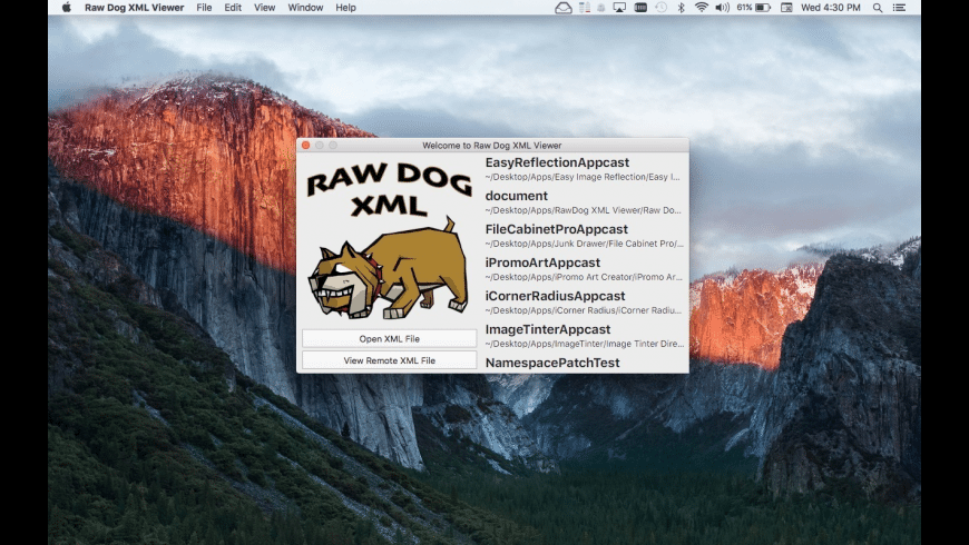 Raw Dog XML Viewer for Mac - review, screenshots
