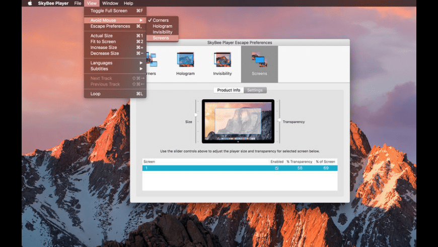 SkyBee Player for Mac - review, screenshots