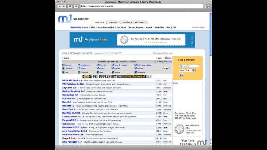 Mac OS X News MiniBrowser for Mac - review, screenshots