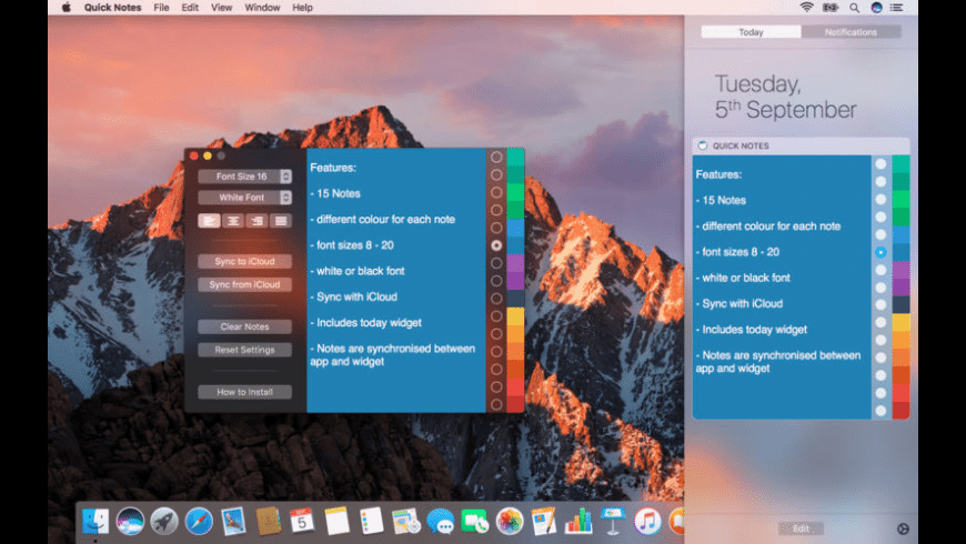 Quick Notes for Mac - review, screenshots