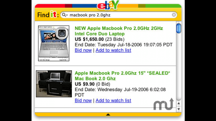 eBay widg-it for Mac - review, screenshots