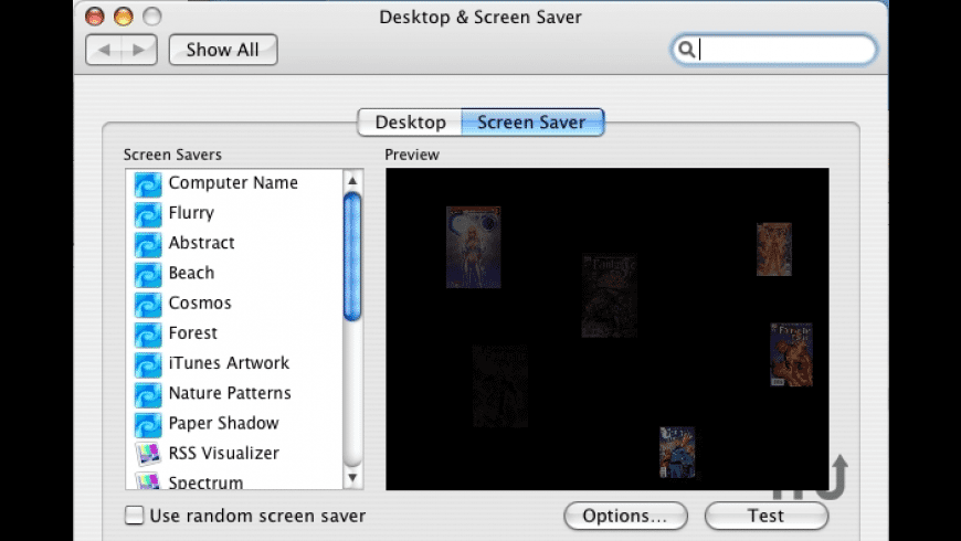 FadingImages screensaver for Mac - review, screenshots