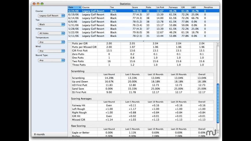 Scorecard for Mac - review, screenshots