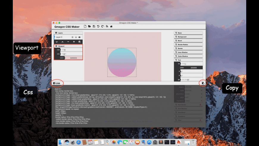 Gmagon CSS Maker for Mac - review, screenshots