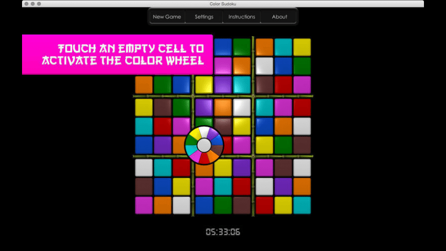 Color Sudoku for Mac - review, screenshots