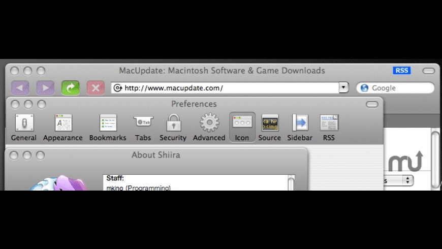 Shiira Unified Metal for Mac - review, screenshots