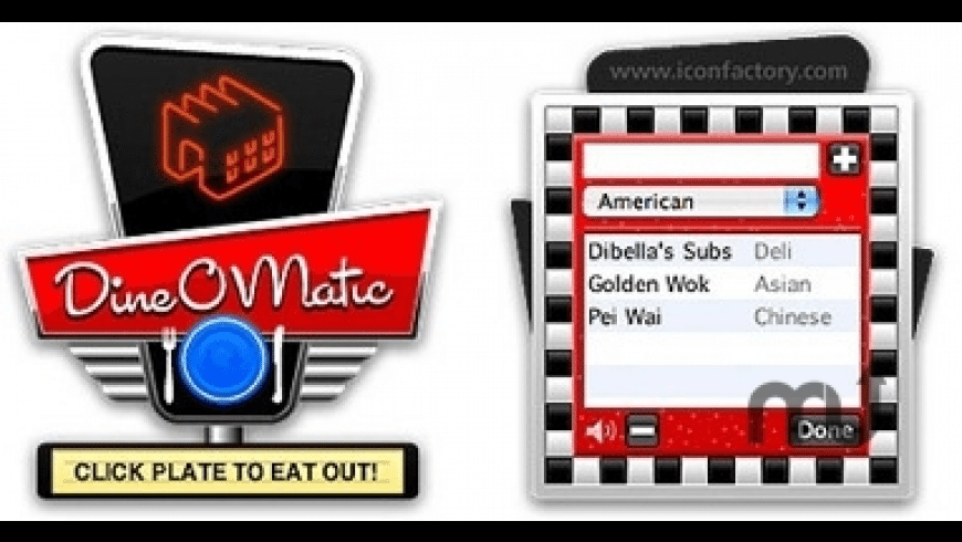 Dine-O-Matic for Mac - review, screenshots