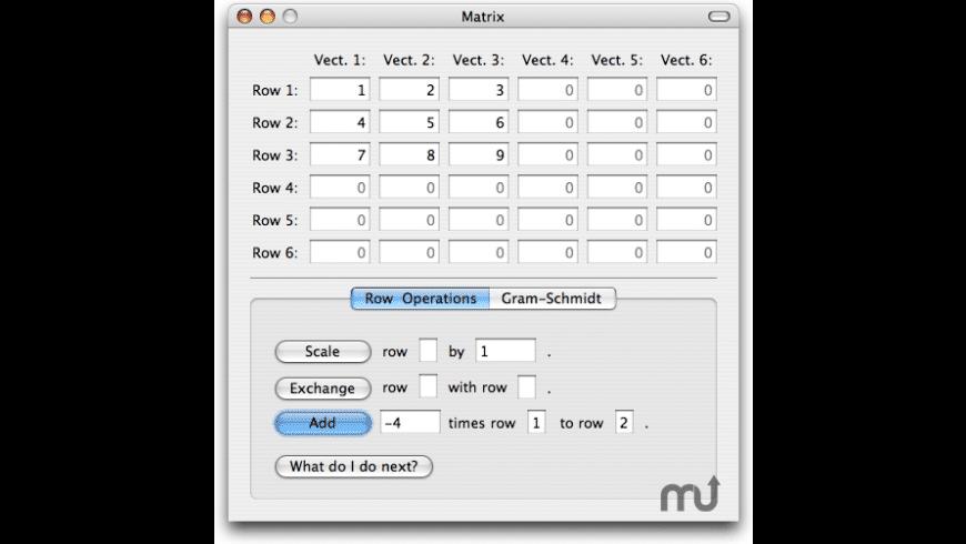 Linear Algebrator for Mac - review, screenshots