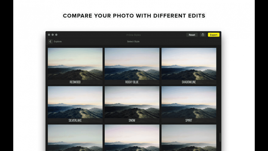Priime Styles for Mac - review, screenshots