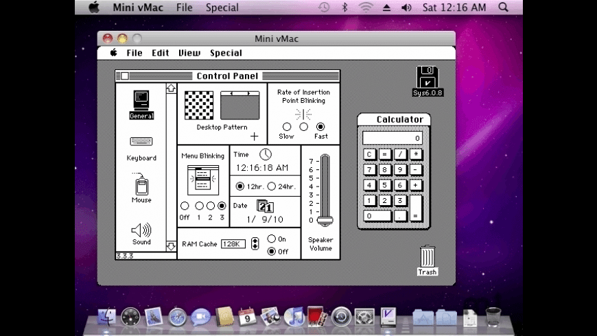 Mini vMac for Mac - review, screenshots