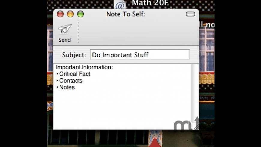 Note To Self for Mac - review, screenshots