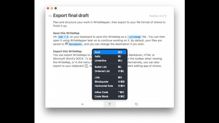 WriteMapper for Mac - review, screenshots