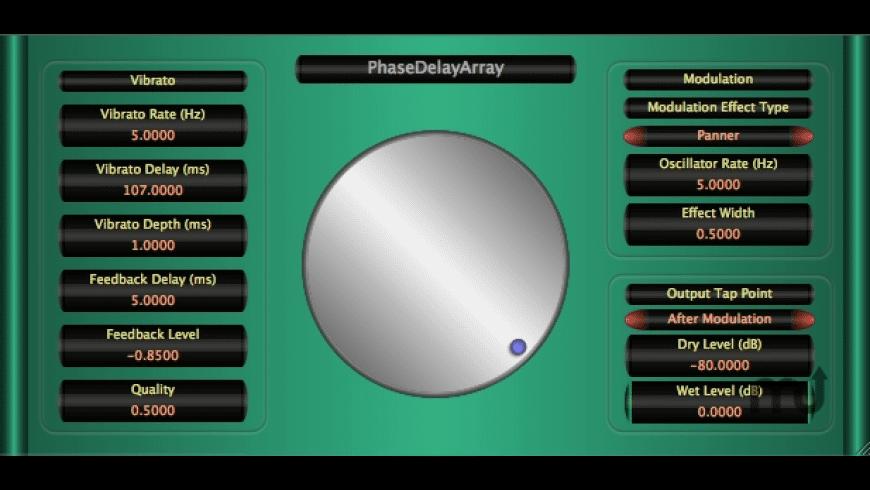 PhaseDelayArray for Mac - review, screenshots