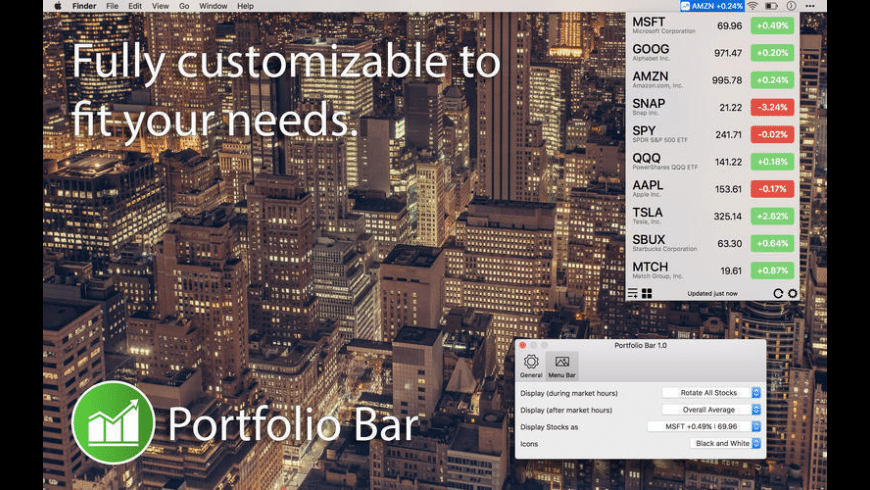 Portfolio Bar for Mac - review, screenshots
