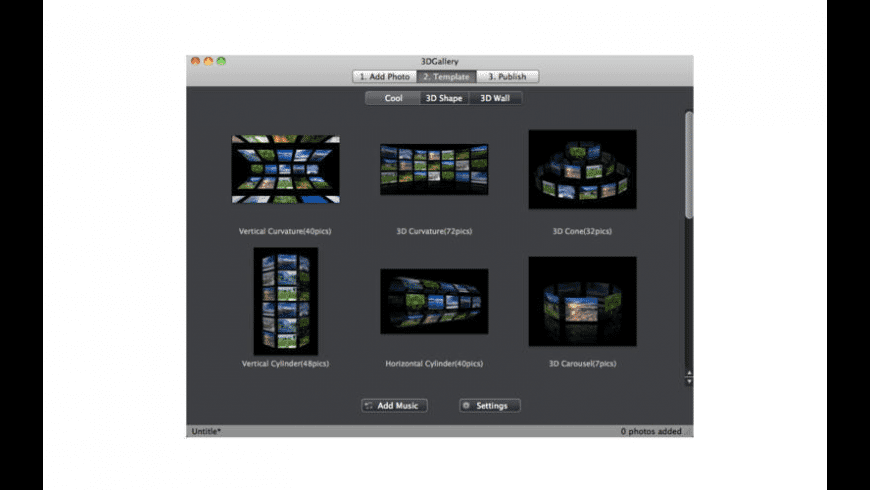 3DGallery for Mac - review, screenshots
