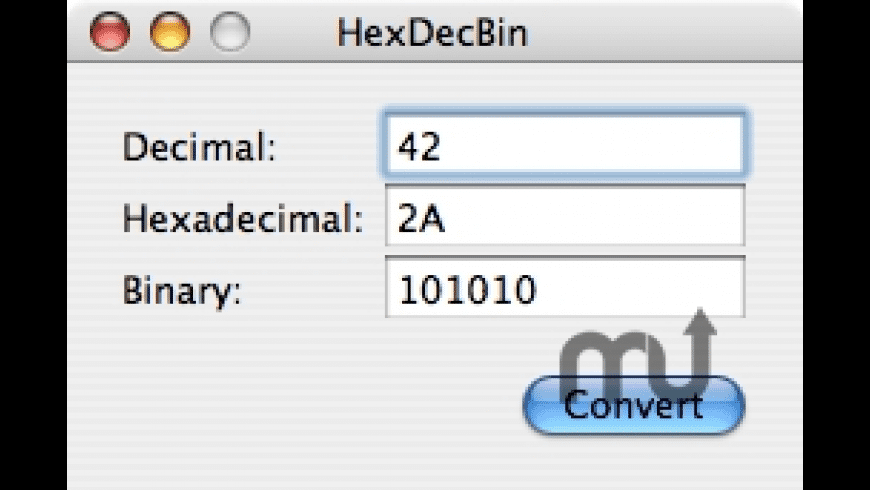 HexDecBin for Mac - review, screenshots