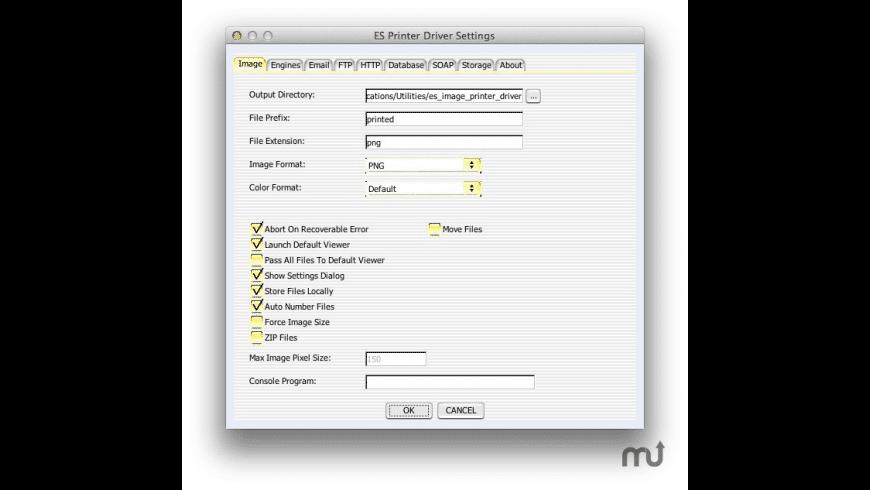 ES Image Printer Driver for Mac - review, screenshots