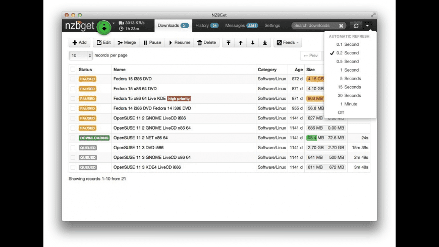 NZBGet for Mac - review, screenshots