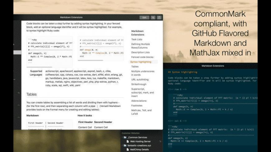 Versatil Markdown for Mac - review, screenshots