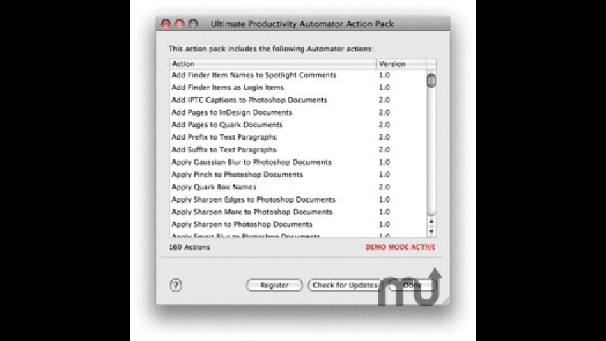Ultimate Productivity Automator Action Pack for Mac - review, screenshots
