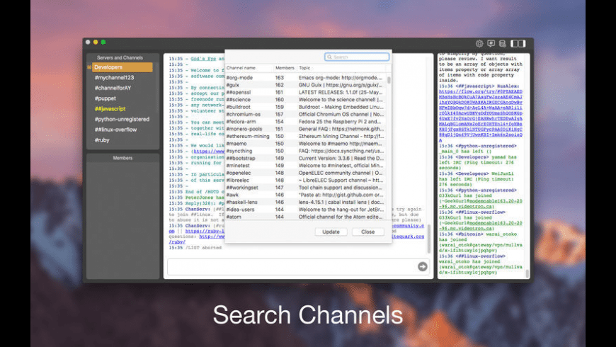 New IRC Live Chat Client for Mac - review, screenshots