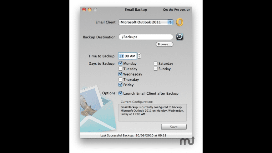 Email Backup for Mac - review, screenshots
