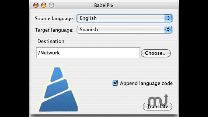 BabelPix for Mac - review, screenshots