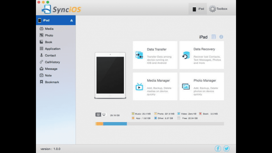 Syncios for Mac - review, screenshots