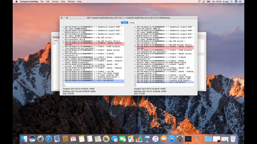 Compare Anything for Mac - review, screenshots