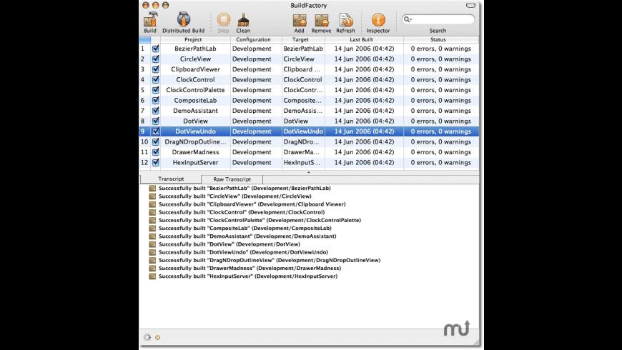 BuildFactory for Mac - review, screenshots