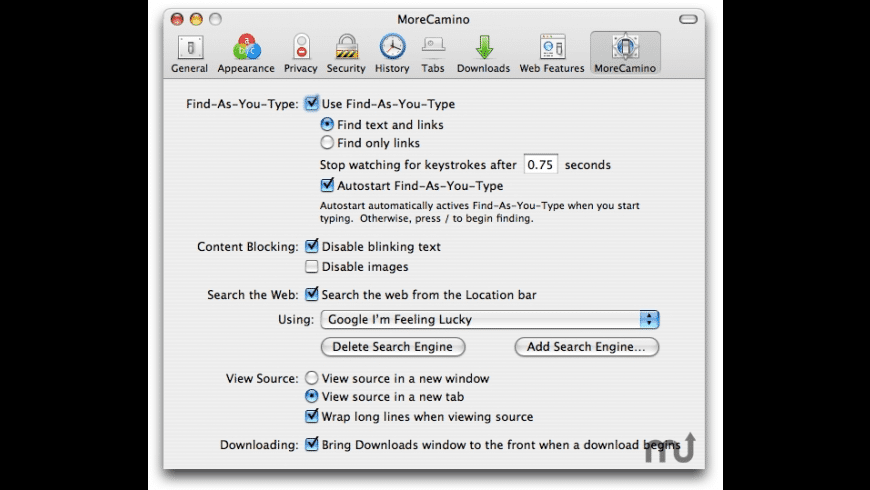 MoreCamino for Mac - review, screenshots