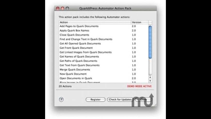 QuarkXPress Automator Action Pack for Mac - review, screenshots