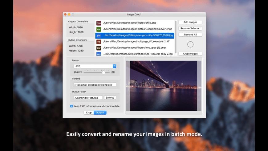 Image Crop for Mac - review, screenshots