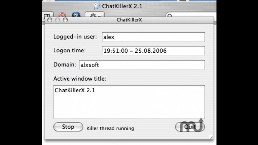 ChatKillerX for Mac - review, screenshots