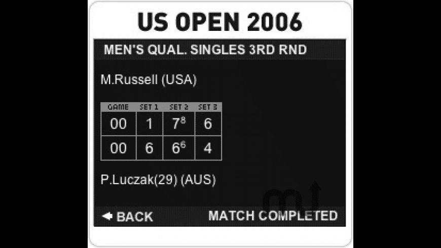 US Open 2006 for Mac - review, screenshots