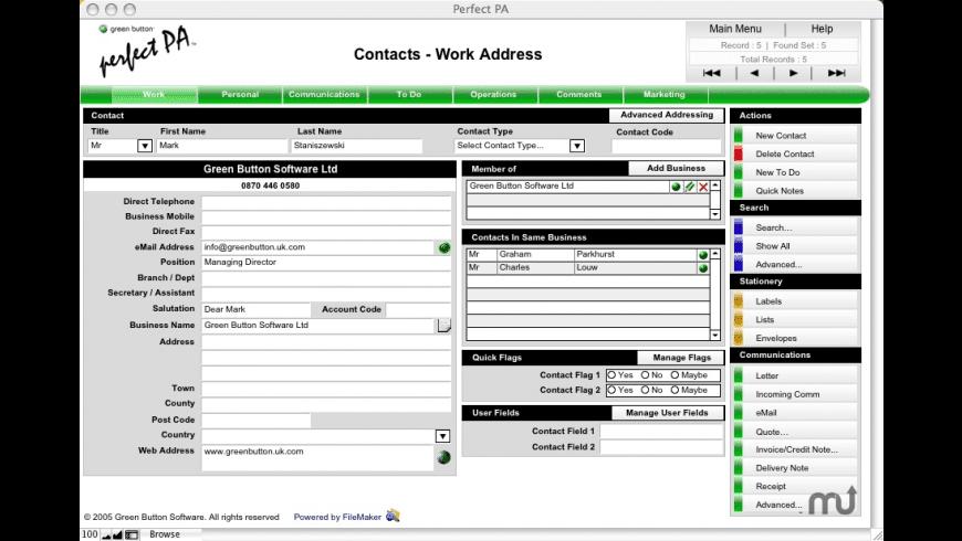 Perfect PA for Mac - review, screenshots